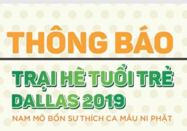 Thông báo: Trại Hè Tuổi Trẻ Dallas 2019/ Dallas Camp for Youth and Young People